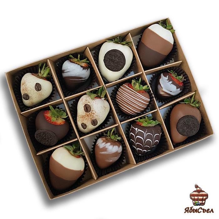 Клубника в шоколаде — «Капучино» | 12 ягод