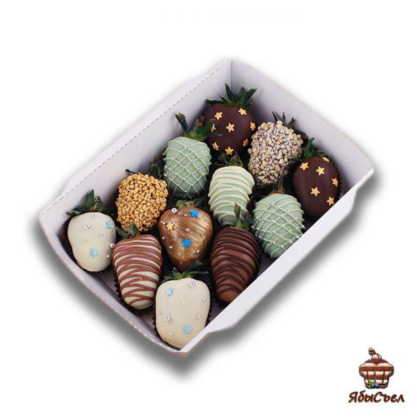 Клубника в шоколаде — «Млечный путь» | 12 ягод