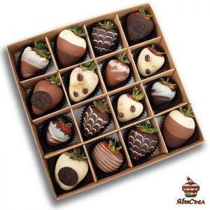 Клубника в шоколаде — «Капучино» | 16 ягод