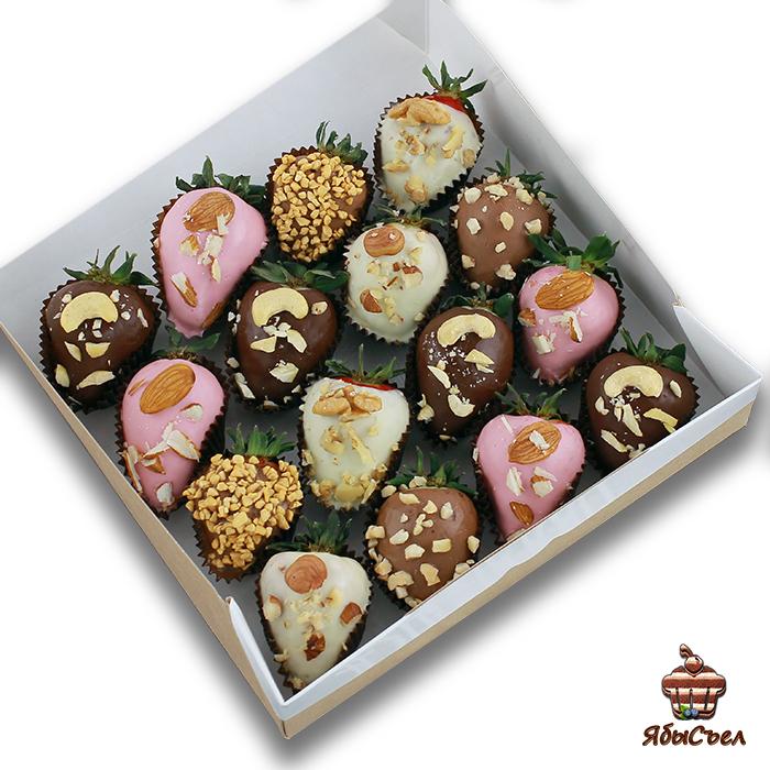 Клубника в шоколаде — «Ореховая любовь» | 16 ягод
