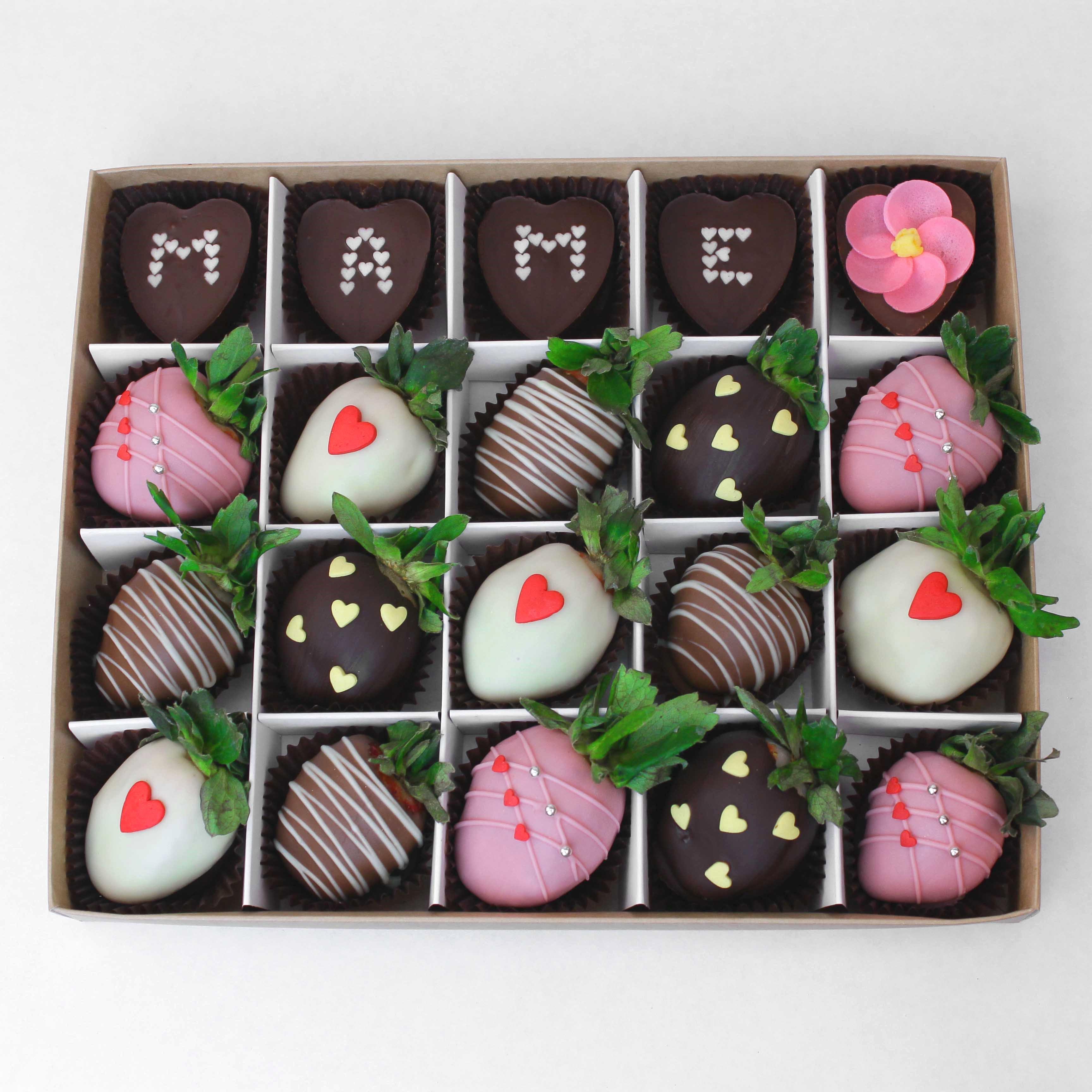 Клубника в шоколаде в день Матери, 15 ягод