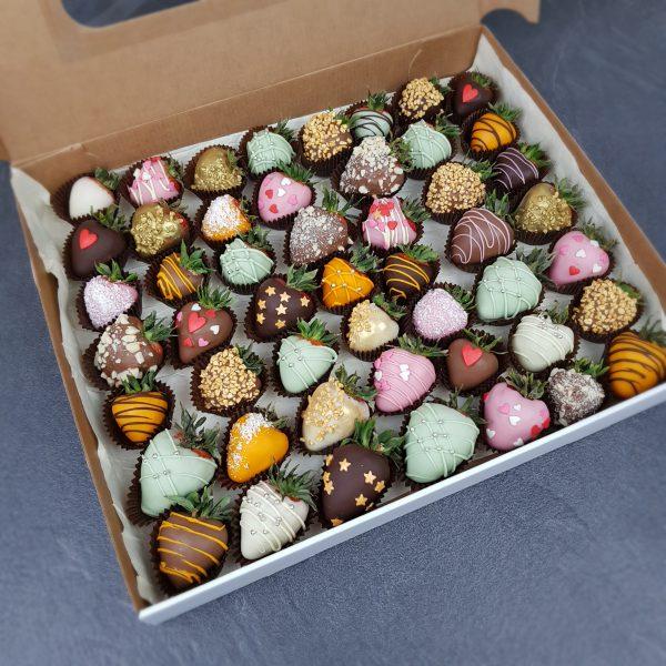 Клубника в шоколаде. Сет из 50 ягод
