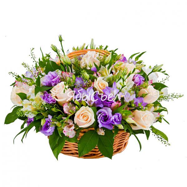 Корзина цветов — «Приятный Подарок»