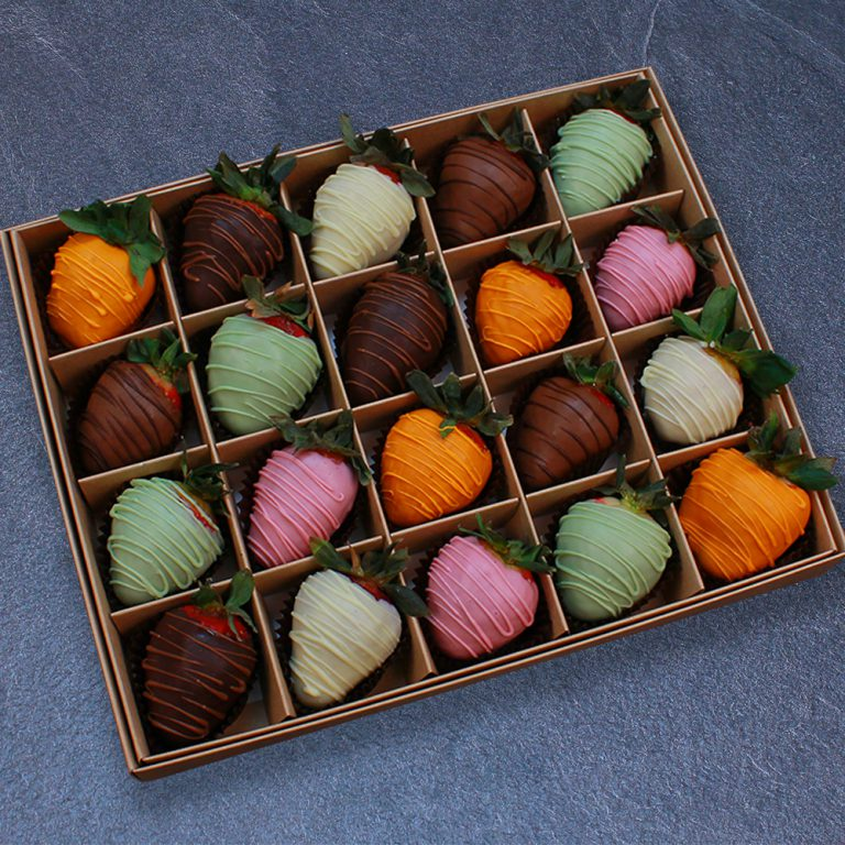 Клубника в шоколаде из 6 вкусов, 20 ягод