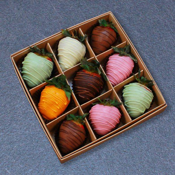 Клубника в шоколаде из 6 вкусов, 9 ягод