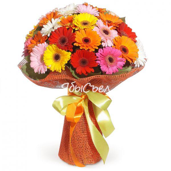 Букет цветов — «Сеньорита» | 15 цветов Ø 25 см