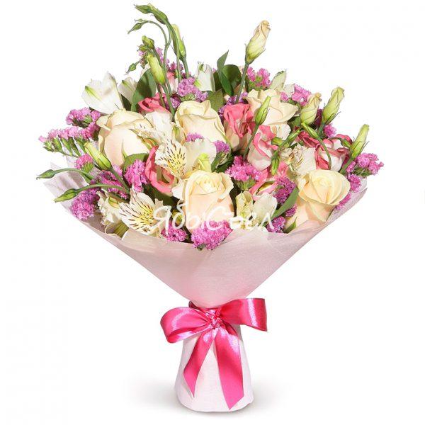 Букет цветов — «Настроение – Весна» | Ø 30 см