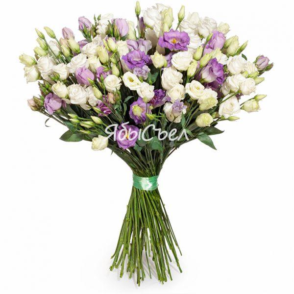 Букет — «Лизиантус» | 15 цветов Ø 20-25 см