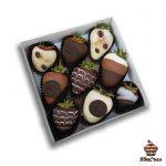 Клубника в шоколаде — «Капучино» | 9 ягод