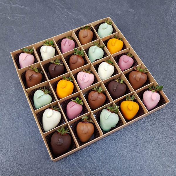 Клубника в шоколаде из 8 вкусов, 25 ягод