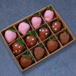 Клубника в шоколаде с сердцами, 12 ягод