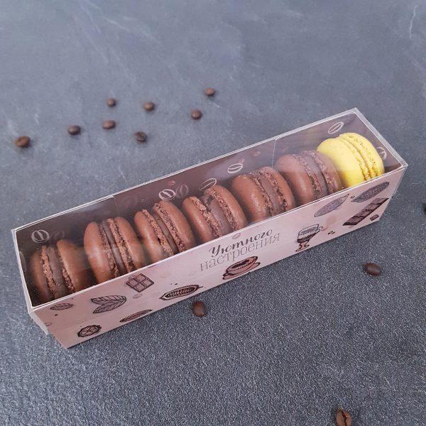 шоколадные мини макарони